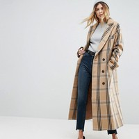 ASOS Wool Coat in Check at asos.com