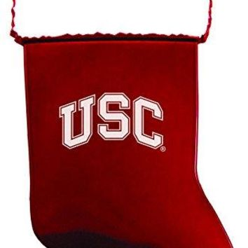 University of Southern California - Chirstmas Holiday Stocking Ornament - Red