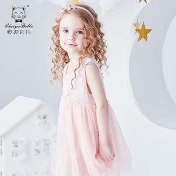 Girls 'dresses, summer dresses, 2019 new Super style children's princess dresses, dress dresses, little girls, gauze dresses.