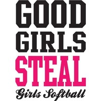 Good Girls Steal Girls Softball Wall Decal