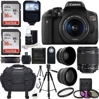 Canon EOS Rebel T6i DSLR CMOS Digital SLR Camera with EF-S 18-55mm f/3.5-5.6 IS STM Lens Bundle