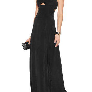 Elsa cutout stretch-silk gown | L'Agence | US | THE OUTNET