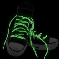 Glow in the Dark Pair of Shoe Laces in Assorted Pastel Colors (3 Pack)