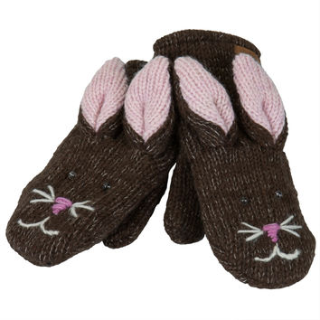 Beatrice The Bunny Knit Mittens