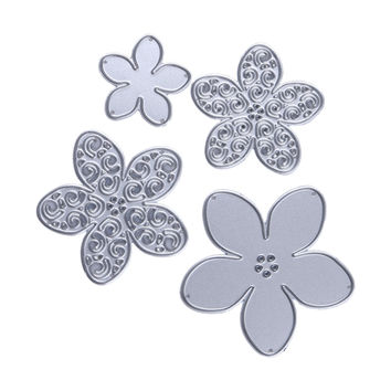 Metal 4 size flower Cutting Dies Stencils for DIY Scrapbooking/photo album Decorative Embossing DIY Paper Cards