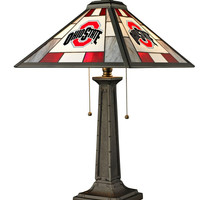 Ohio State University Glass Table Lamp