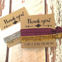 Bridesmaid Gift  Hair Ties // Thank you for helping us tie the knot - Wedding Favors - Hair Tie Favor - Bridal Party Favors - The Knot
