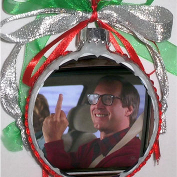 Christmas Vacation inspired Tribute Christmas Ornament flip full 8
