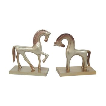 APOLLO AND ARTEMIS HORSE SCULPTURES SET OF TWO