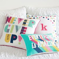 Technicolor Sentiment Pillow Cover