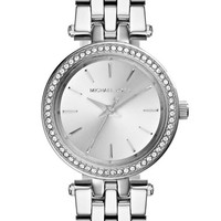 Women's Michael Kors 'Petite Darci' Crystal Bezel Bracelet Watch, 26mm - Silver