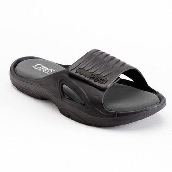 DCCKX8J Chaps Velcro Slide Sandals - Men (Black)