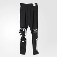Adidas New Female Sweatpants Black Cut Leggings