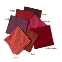 Deborah Rhodes Washed Linen Napkins-|Red