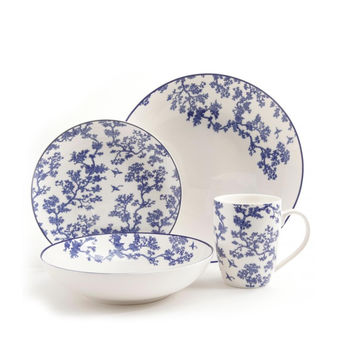 Florence Broadhurst The Cranes 4 Piece Place Setting, Blue