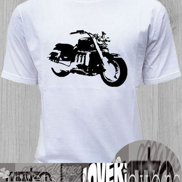motorcycle TShirt Tee Shirts Black and White For Men and Women Unisex Size