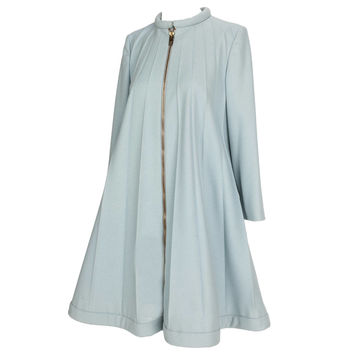 1967 Rare Iconic Pierre Cardin Wool Trapeze Accordian Pleat Coat Dress