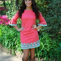 Color Me Beautiful Dress in Coral by Missy Robertson