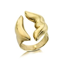 Bernard Delettrez Designer Rings Mouth Bronze Ring