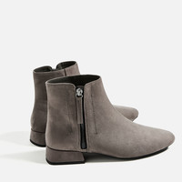 FLAT ANKLE BOOTS WITH ZIP DETAILS