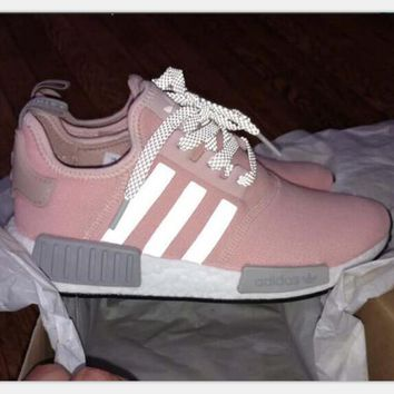 """Adidas"" NMD Trending Fashion Casual Sports Shoes Gray/Pink H Z"
