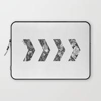 Liam's Chevrons Laptop Sleeve by Cyrilliart