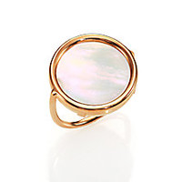 Ginette - Mother-of-Pearl & 18K Rose Gold Disc Ring - Saks Fifth Avenue Mobile