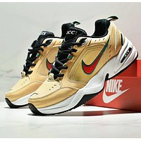 NIKE Air M2K TEKNO New fashion embroidery hook couple sports running shoes Yellow
