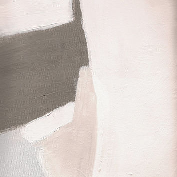 Abstract Art Print, Neutral Painting Giclee, Neutral Art, Minimal Wall Art, Neutral Abstract Painting Detail
