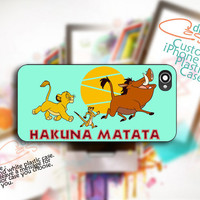 Hakuna Matata Lion King Custom  Print On Hard Cover  by DreamCaser