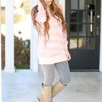 Warm Memories Sweatshirt Tunic - Coral