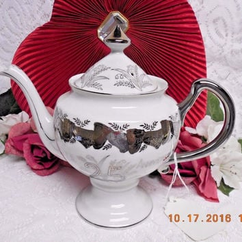 Vintage  Made in Japan 25th Silver Wedding Anniversary Large Tea pot