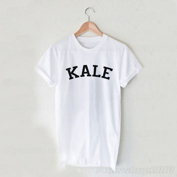 Kale Black White Unisex T Shirt