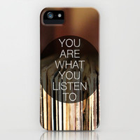 You Are What You Listen To iPhone Case by Galaxy Eyes