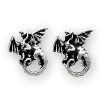 Whitby Wyrm (Stud; Pair) Earrings Alchemy Alternative Lifestyle Gothic Jewelry