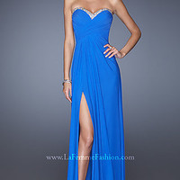 Long Strapless Open Back Prom Dress by La Femme