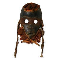 West African Handmade Zuchiya (heart) Mask