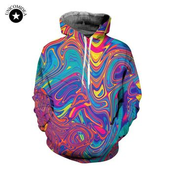 3d Psychedelic Hoodies Trippy Graffiti Printed Hooded Pullovers Color Painting Hoodie Men Women Plus Size Sweatshirt Tracksuit