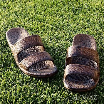 dark brown classic jandals® -  pali hawaii sandals