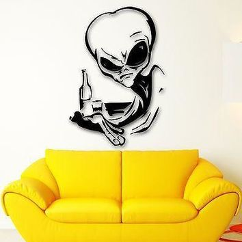 Wall Stickers Vinyl Decal Alien UFO Witty Decor Room Unique Gift (ig1778)