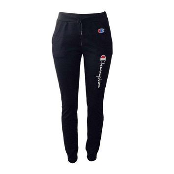 PEAP2Q champion print women sports casual pants