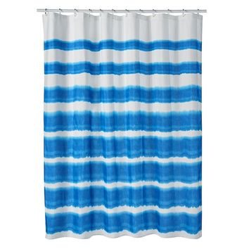 SONOMA life + style Seabrook Coastal Ombre Fabric Shower Curtain (Blue)