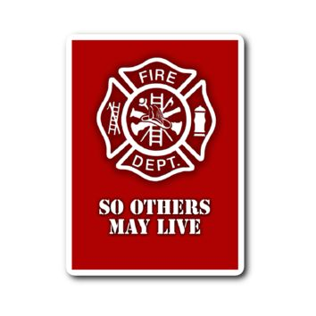 Firefighter Vinyl Sticker (Free Shipping)