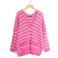 Aliexpress.com : Buy Free shipping Korean style new autumn and winter fashion sweater wild striped Single breasted cardigan sweater FLC3086 41028 56 from Reliable sweater tiger suppliers on eFoxcity Wholesale