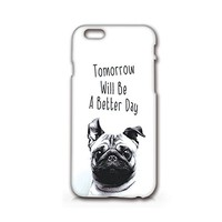 SUPERTRAMPshop - Tomorrow Will Be A Better Day - Cover Iphone Full Protection Matt White Case (iphone 6)