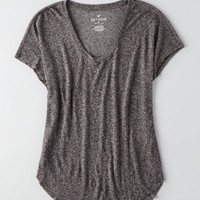 AEO Soft & Sexy V-Neck Scoop Jegging T-Shirt , Grey | American Eagle Outfitters