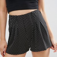 ASOS Mono Polka Dot Pleated Culottes