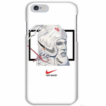 NIKE x OFF-WHITE co-branded iphone6 matte hard shell mobile phone case cover