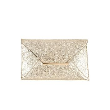 Women's Affordable Fashion Handbags Faux wrinkled leather clutch bag
