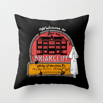 American Horror Story: Briarcliff Throw Pillow by dutyfreak